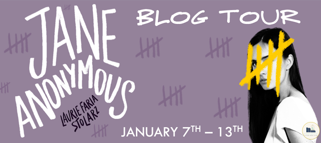 Blog Tour: Jane Anonymous by Laurie Faria Stolarz (Character Interview+ Giveaway!)