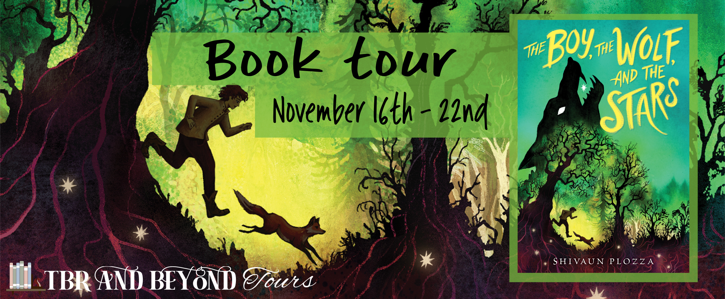 Blog Tour: The Boy, The Wolf, and The Stars by Shivaun Plazza (Interview + Giveaway!)