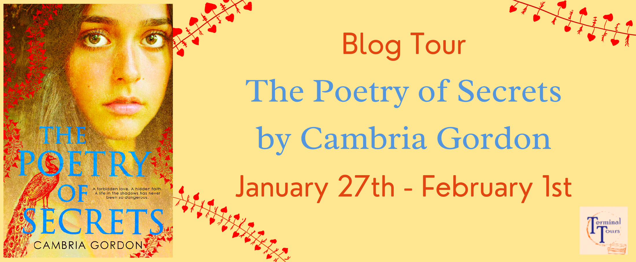 Blog Tour: The Poetry of Secrets by Cambria Gordon (Creative Post + Bookstagram!)