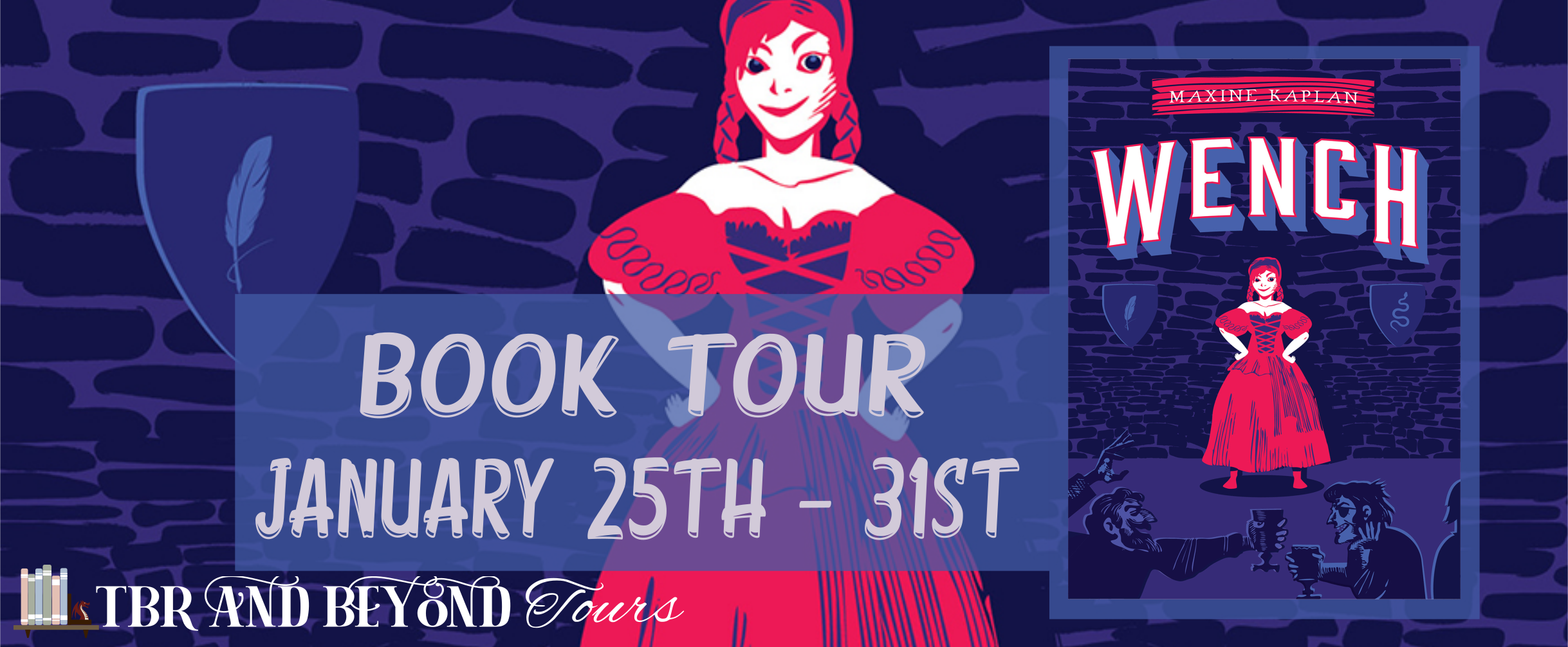 Blog Tour: Wench by Maxine Kaplan (Interview + Giveaway!)