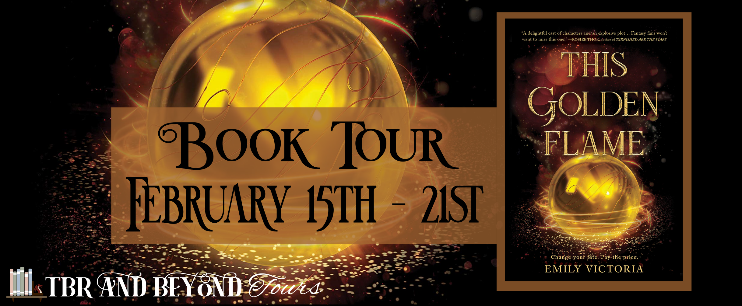 Blog Tour: This Golden Flame by Emily Victoria (Interview + Giveaway!)