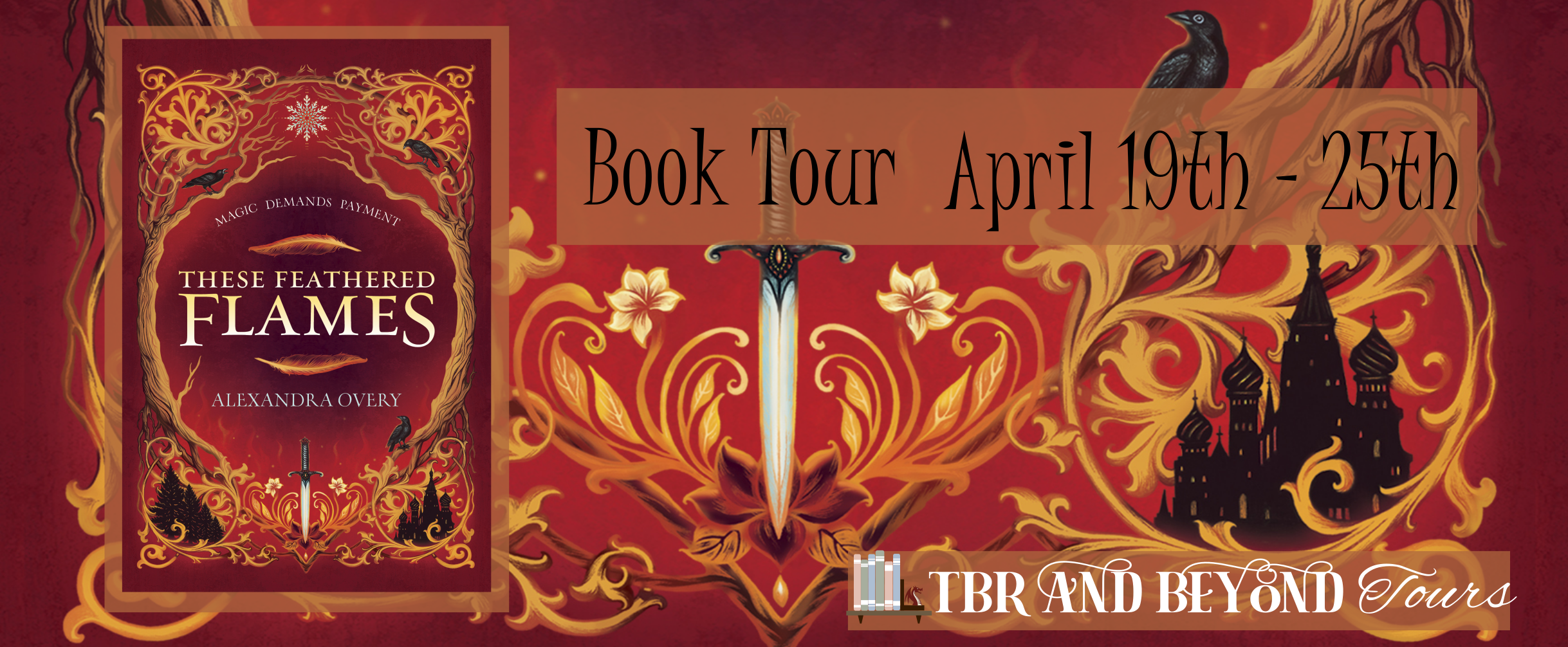 Blog Tour: These Feathered Flames by Alexandra Overy (Interview + Giveaway!)