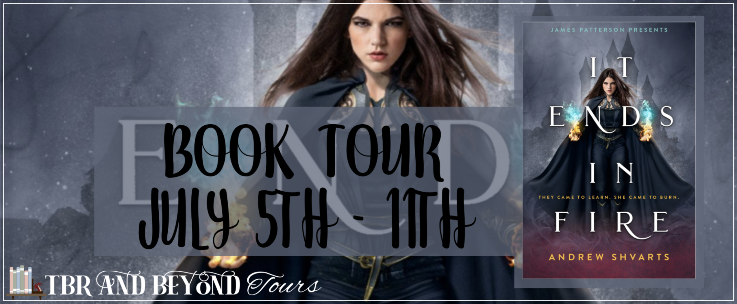 Blog Tour: It Ends in Fire by Andrew Shvarts (Interview + Giveaway!)