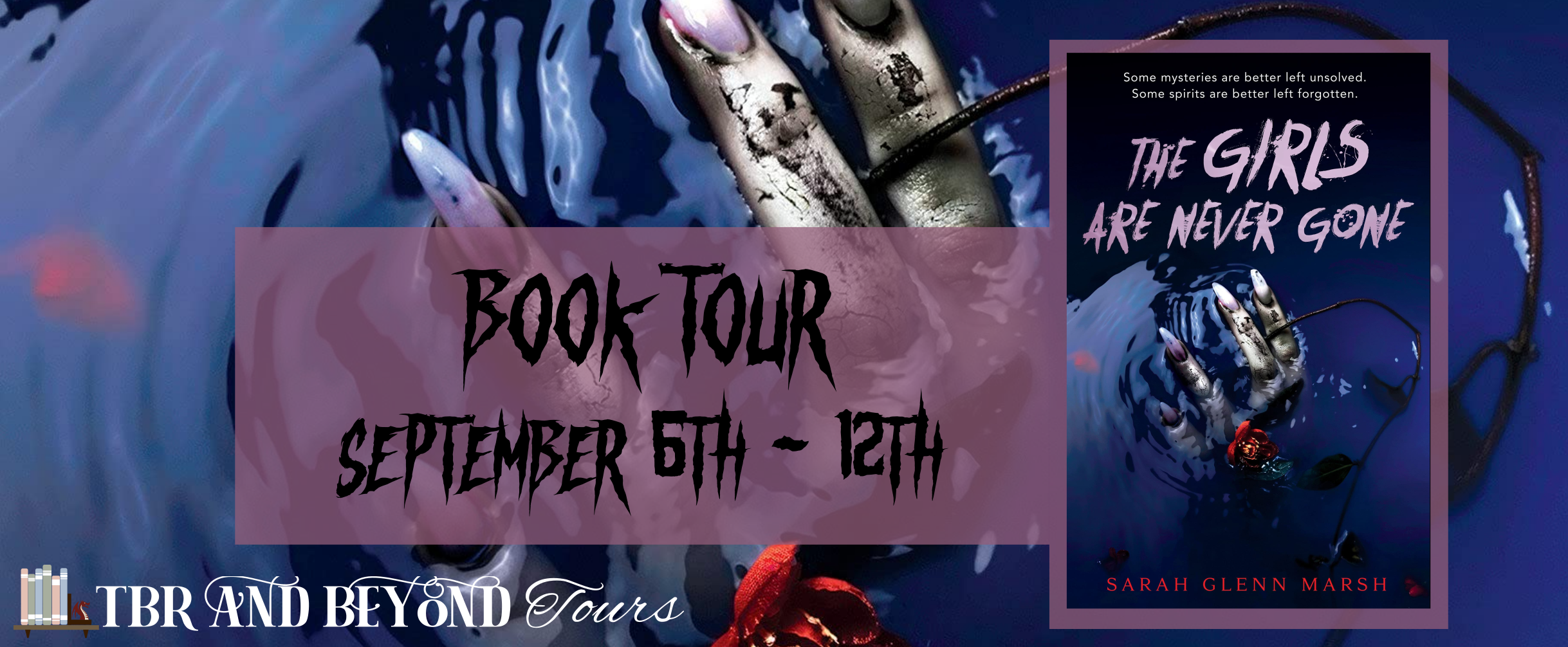 Blog Tour: The Girls Are Never Gone by Sarah Glenn Marsh (Interview + Giveaway!)