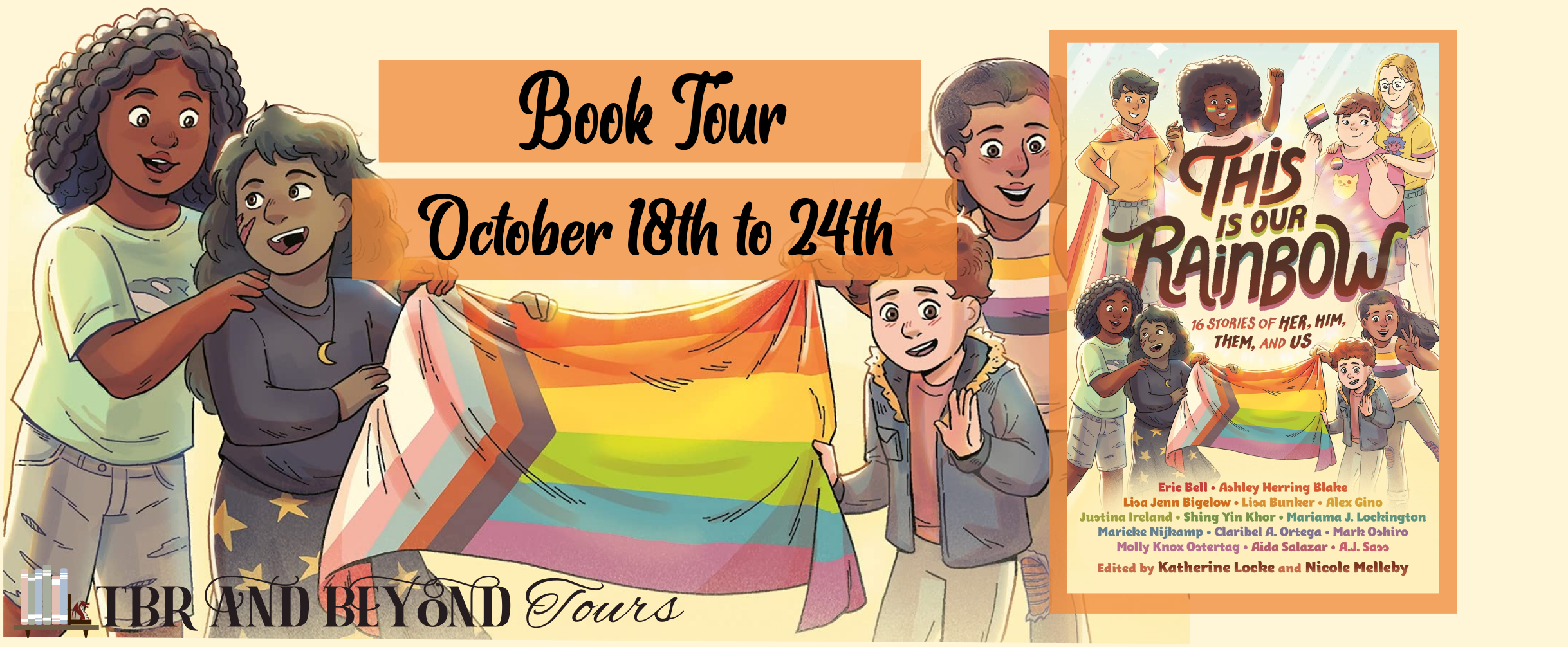 Blog Tour: This is Our Rainbow edited by Katherine Locke and Nicole Melleby (Aesthetic Board + Top 5 Reasons to Read!)